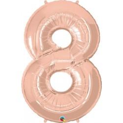 NUMERO 8 PALLONCINO ROSE GOLD
